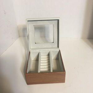 Storage & Organization - Leather N Wood Small Jewelry Box!